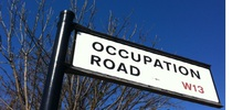 Occupation Road sign